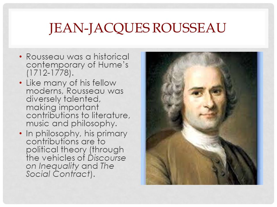 Rousseau and Human Nature