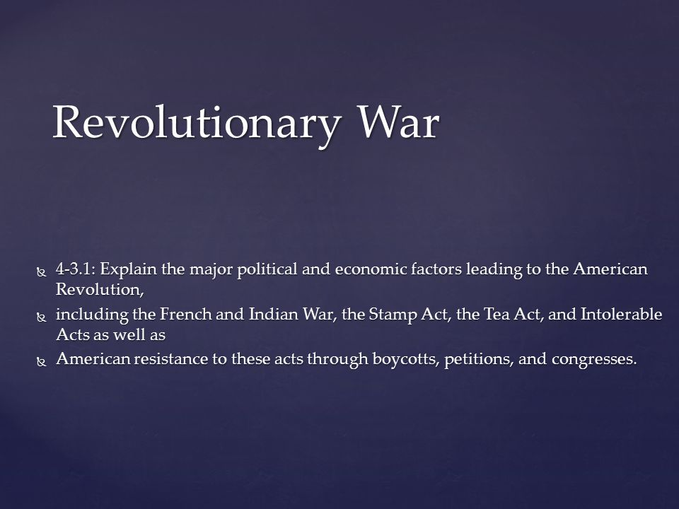 contributing factors of the american revolution Get an answer for 'what were the key factors in the american military victory in the revolutionary warwhat were the key factors in the american military victory in.