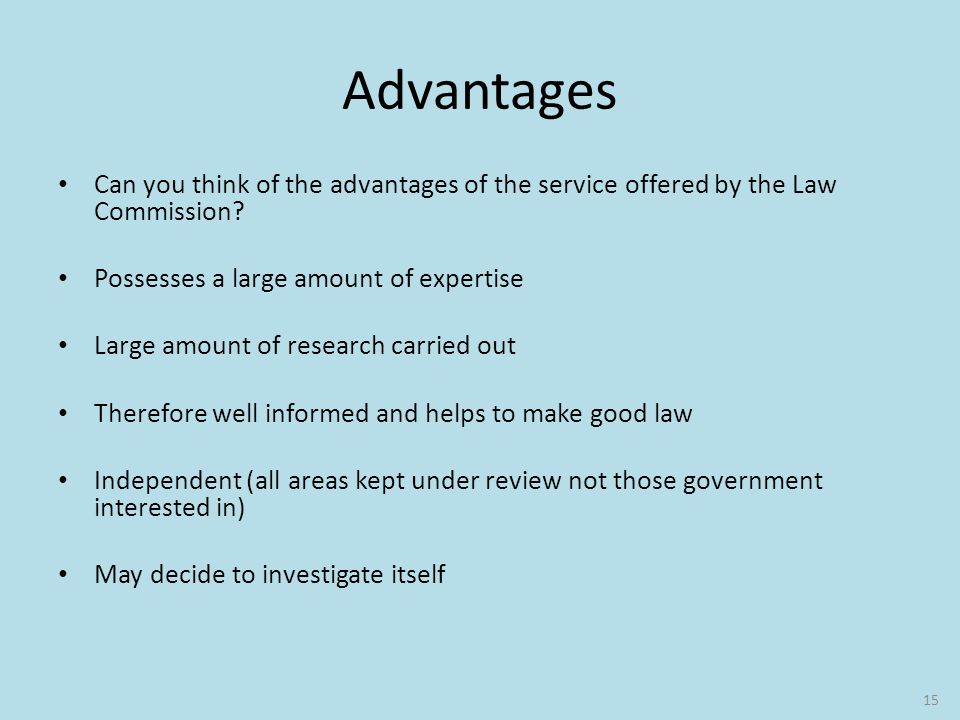 advantages and disadvantages of law making in uk parliament A bill is a proposed law which is introduced into parliament of the details of the new scheme by making orders or regulations under govuk, we'd like to.
