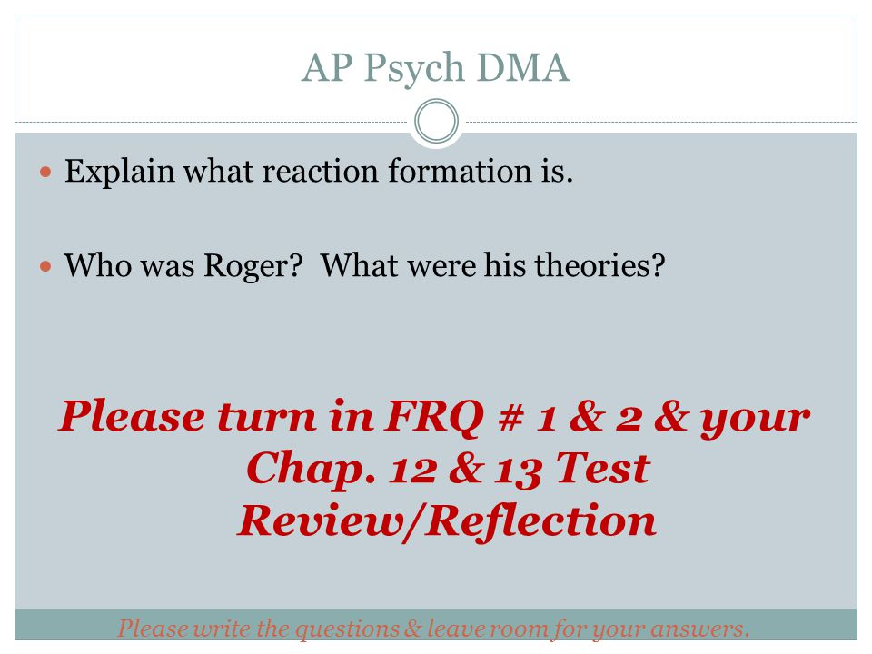 Get Answers For Ap Psychology Homework