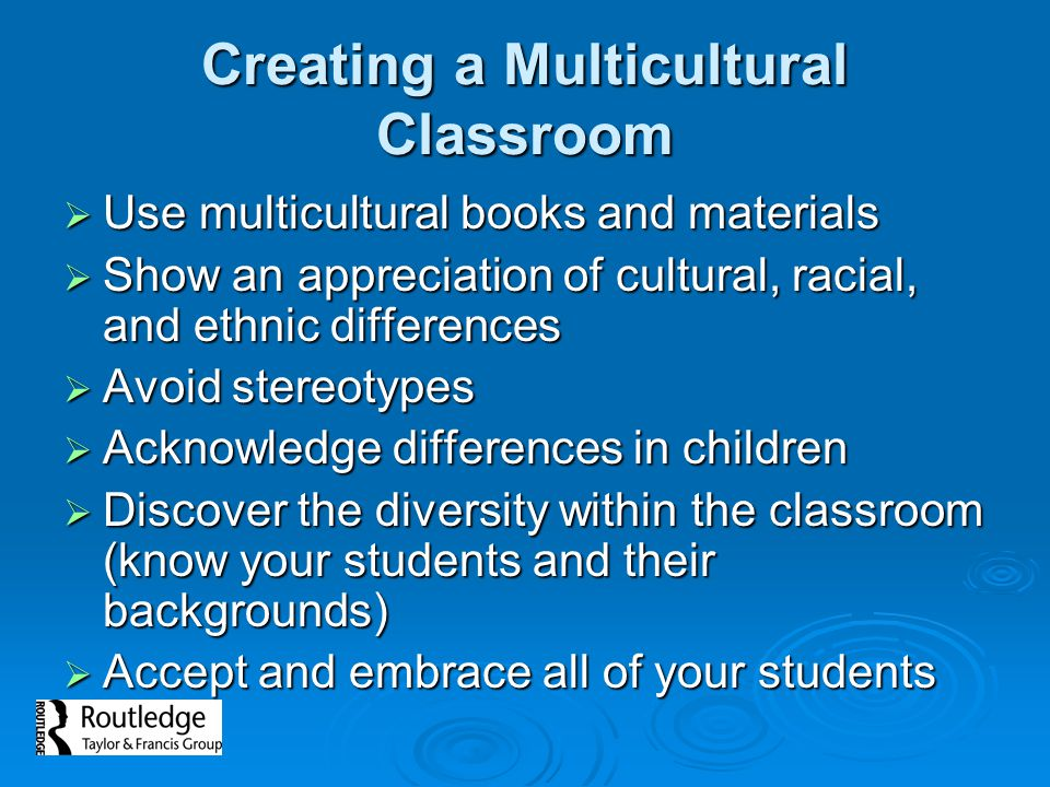 Creating a Multicultural Classroom