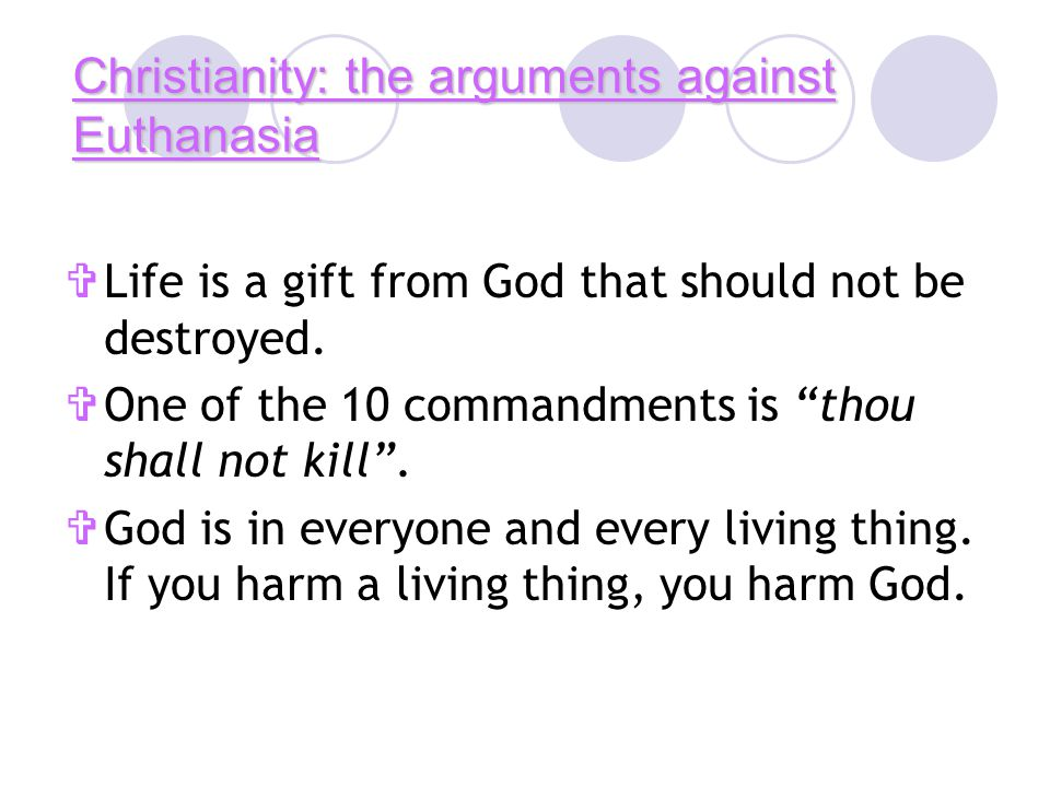 reasons for euthanasia essay