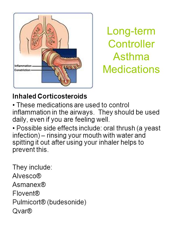 Long-term Controller Asthma Medications - ppt download