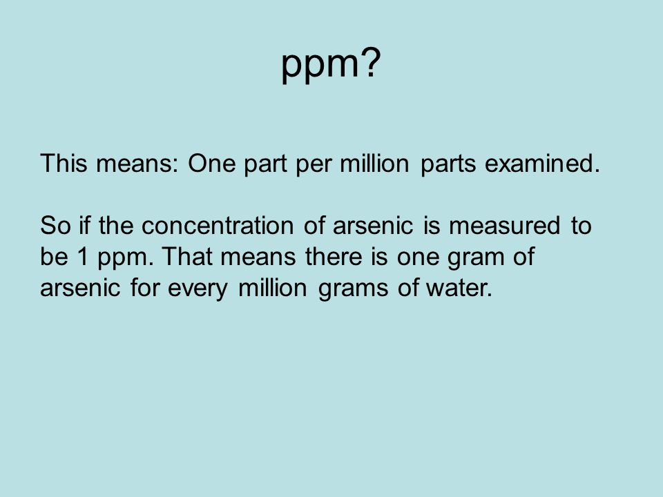How to Make Simple Solutions and Dilutions Taken from Resource – Parts Per Million Worksheet