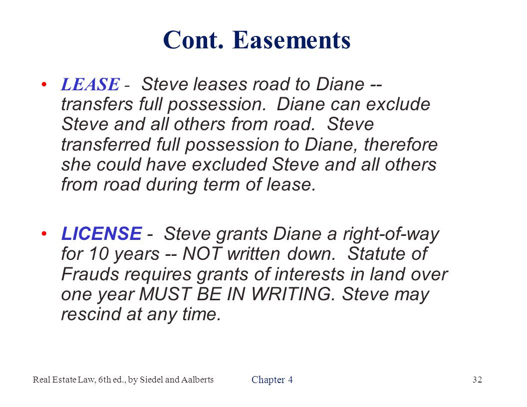 Types of Easements Essay