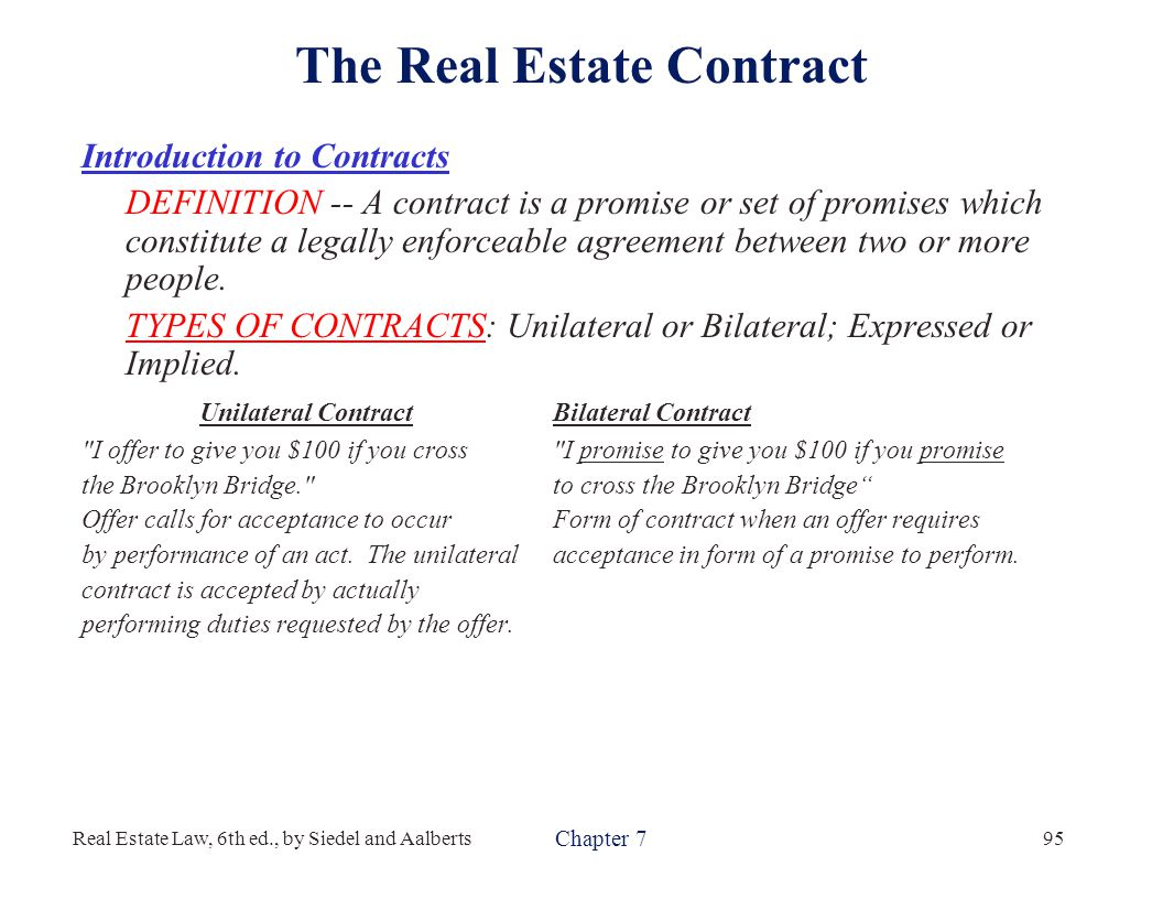 Unilateral Form Of Contract Ibovnathandedecker