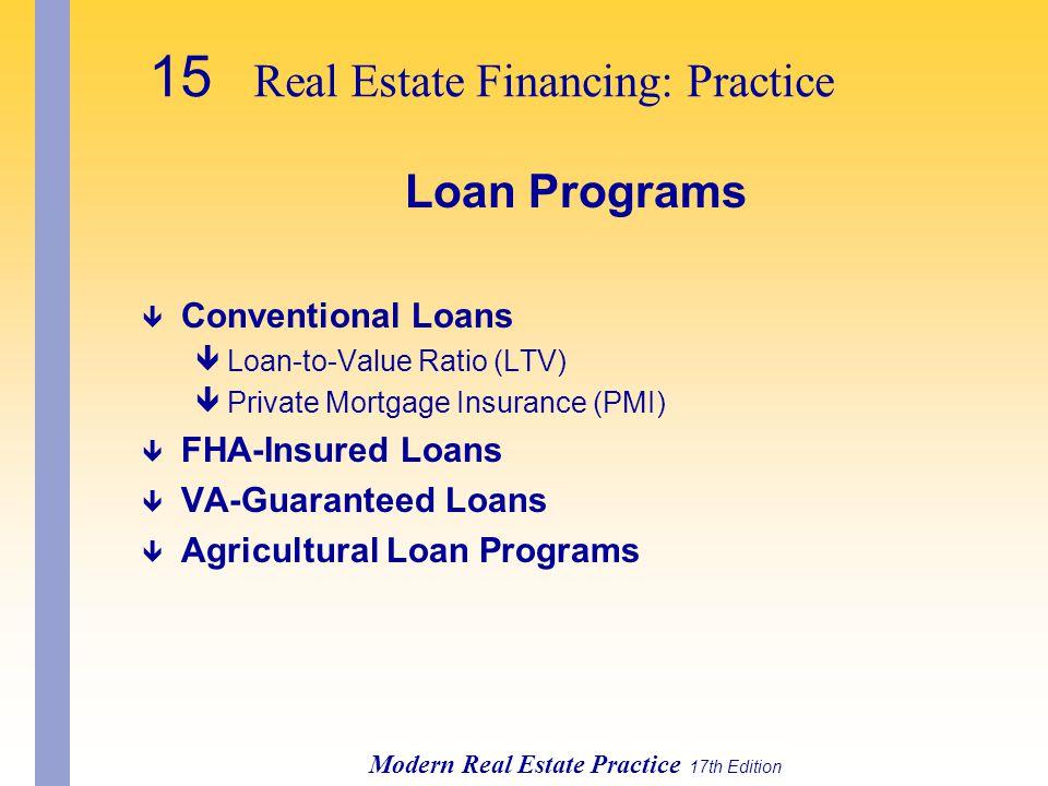 15 Real Estate Financing: Practice