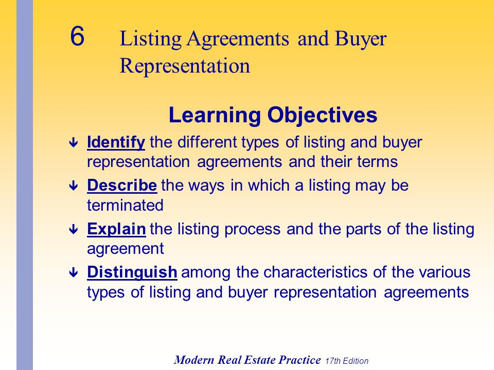 Chapter 1 introduction to the real estate business ppt download 6 listing agreements and buyer platinumwayz