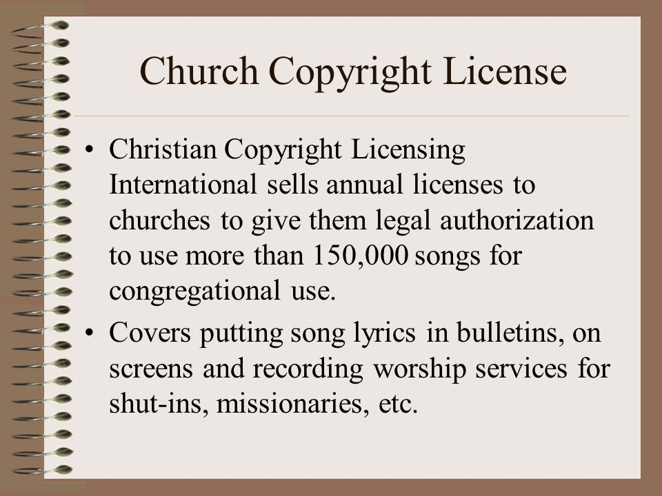 Copyright Law for Churches - ppt video online download