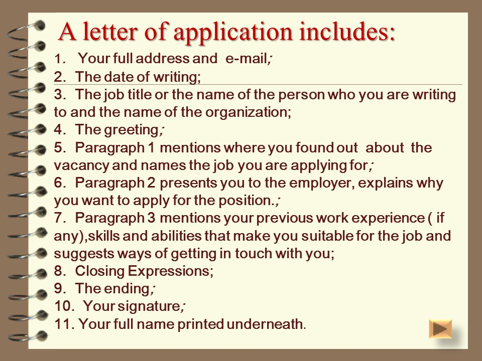 How to write an application letter ppt video online download a letter of application includes thecheapjerseys Image collections