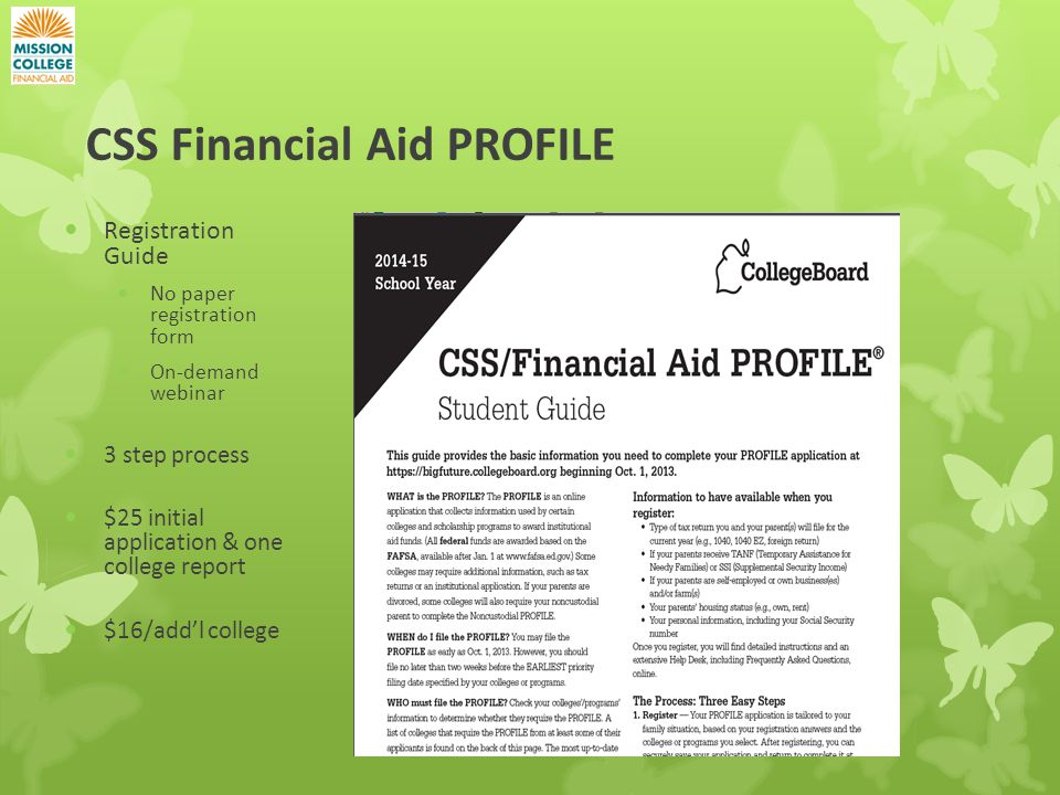 Css financial aid profile questions for dating 4
