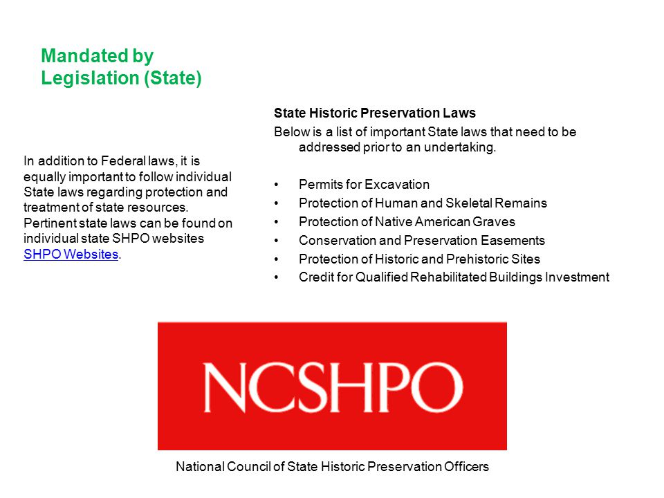 National Council of State Historic Preservation Officers