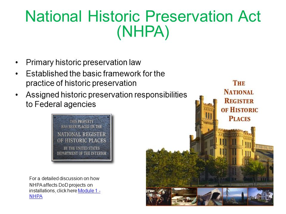 National Historic Preservation Act (NHPA)