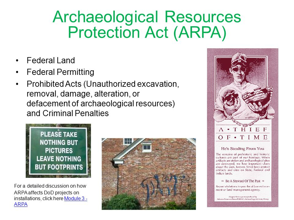 Archaeological Resources Protection Act (ARPA)