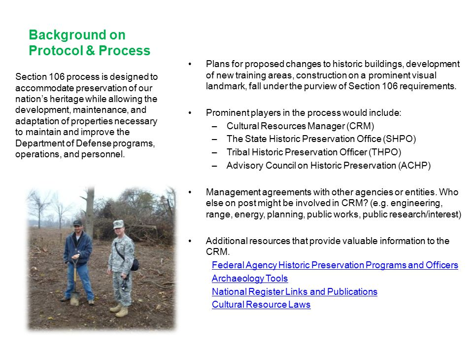Background on Protocol & Process
