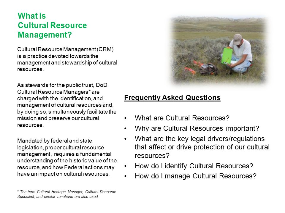 What is Cultural Resource Management