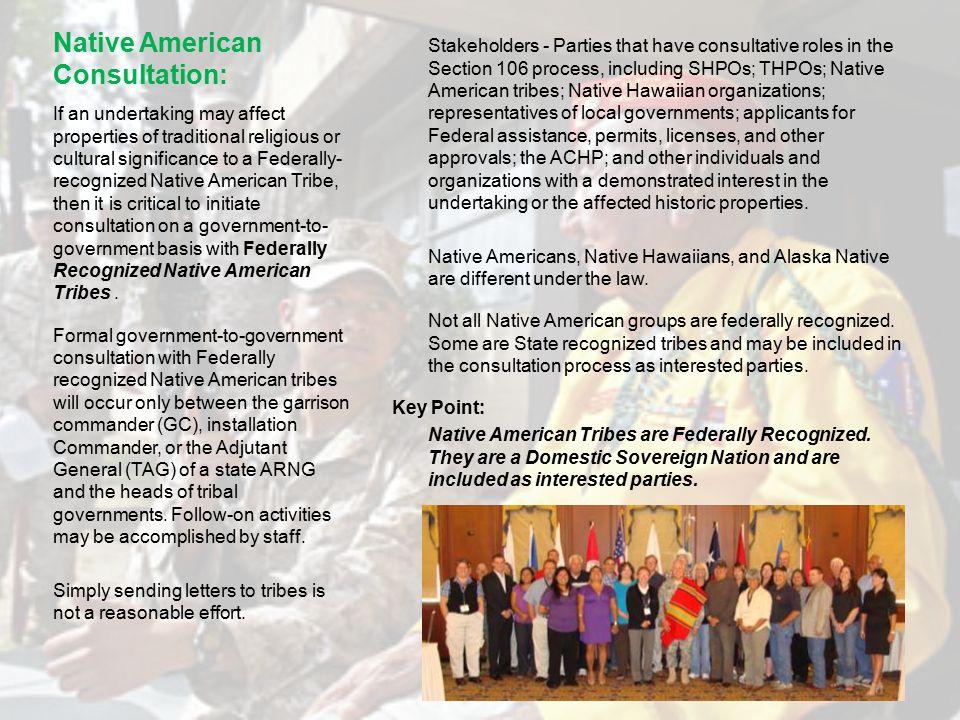 Native American Consultation: