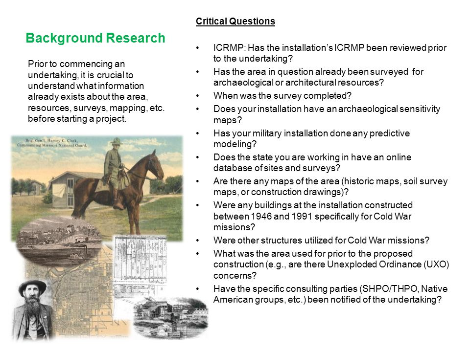 Background Research Critical Questions