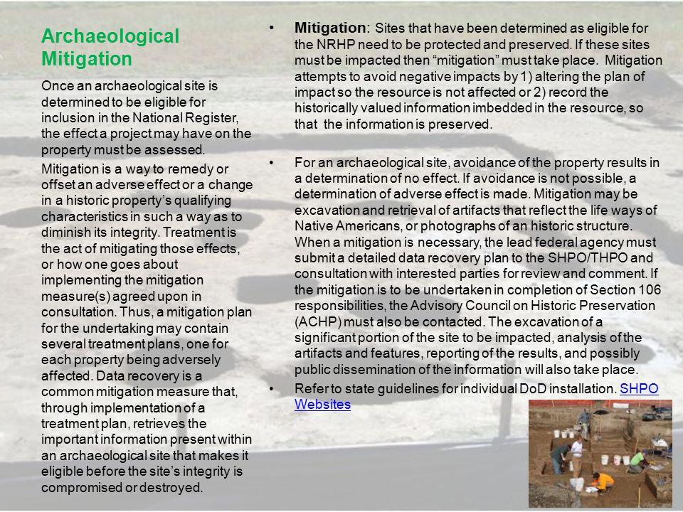 Archaeological Mitigation