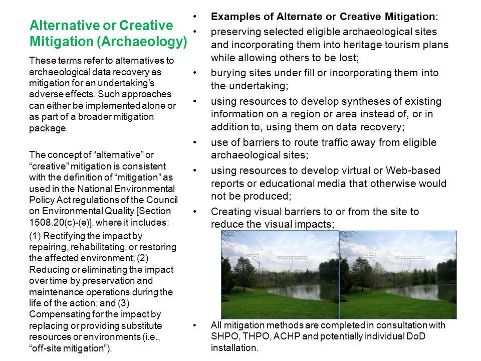 Alternative or Creative Mitigation (Archaeology)