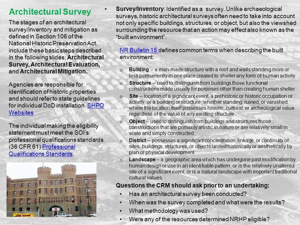 Architectural Survey