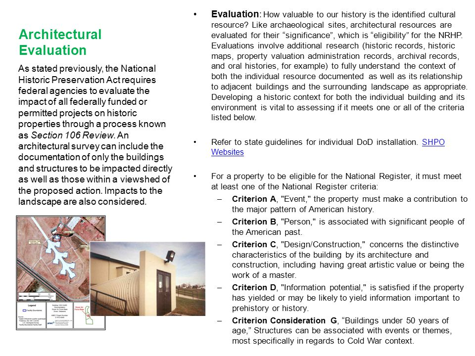 Architectural Evaluation