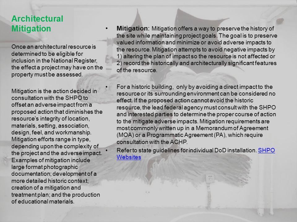 Architectural Mitigation