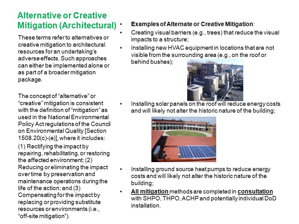 Alternative or Creative Mitigation (Architectural)