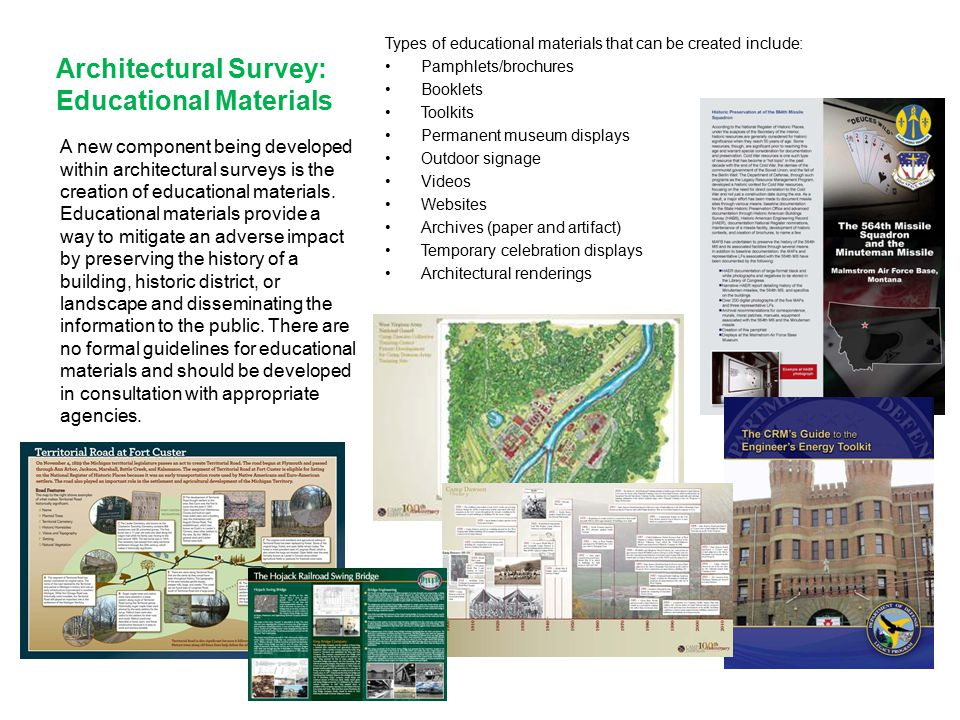 Architectural Survey: Educational Materials