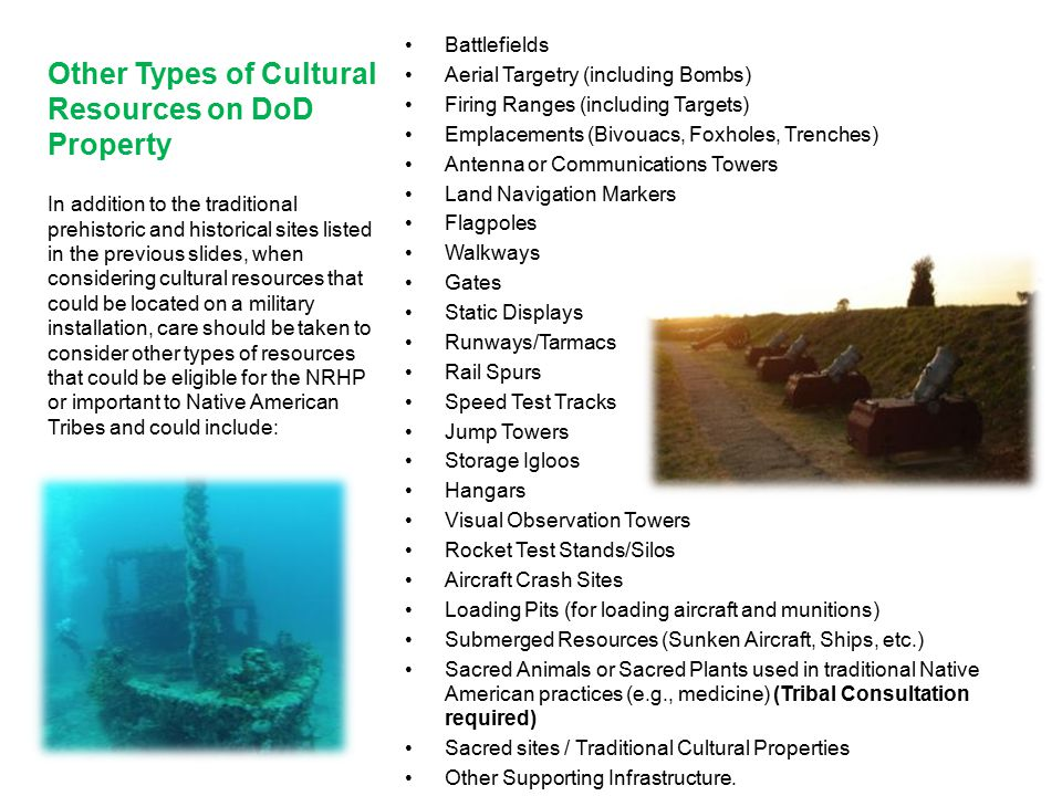 Other Types of Cultural Resources on DoD Property