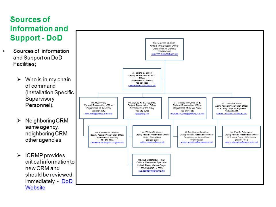 Information and Support - DoD