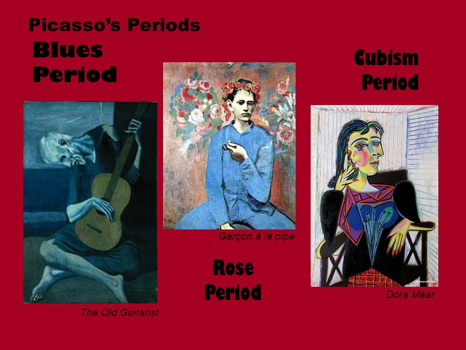 Blues Period Cubism Period Rose Period Picasso's Periods