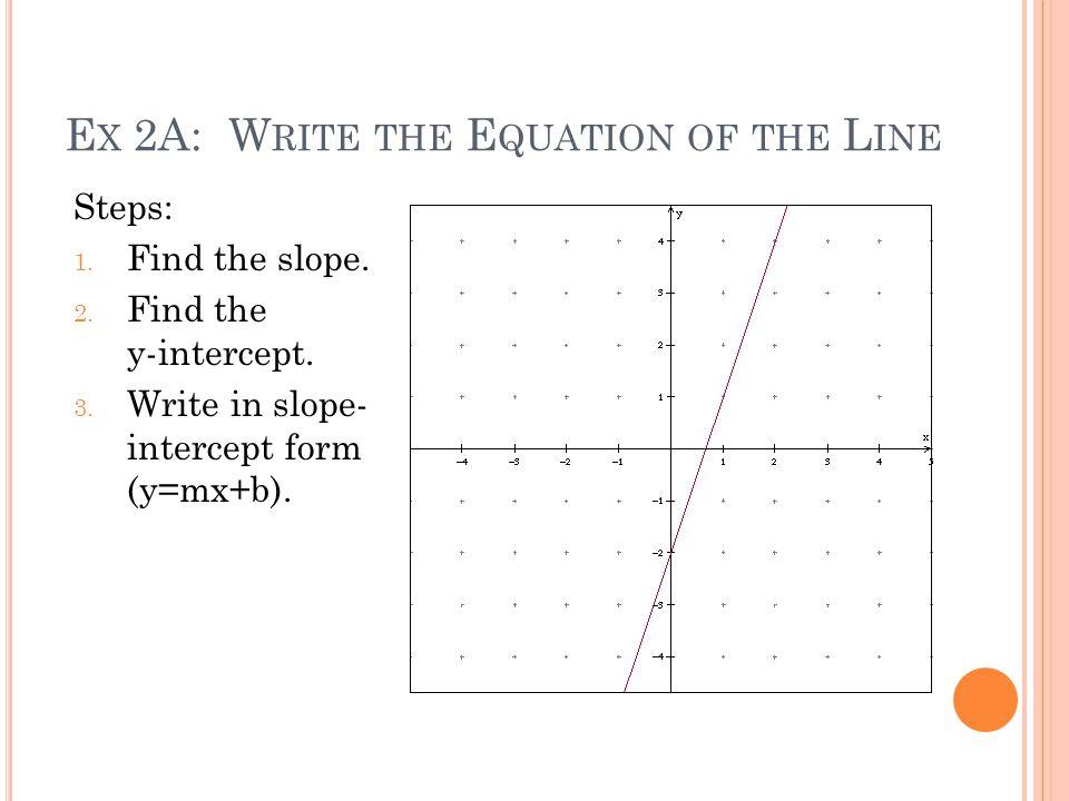 sec 8 writing the equation of a line ppt download. Black Bedroom Furniture Sets. Home Design Ideas