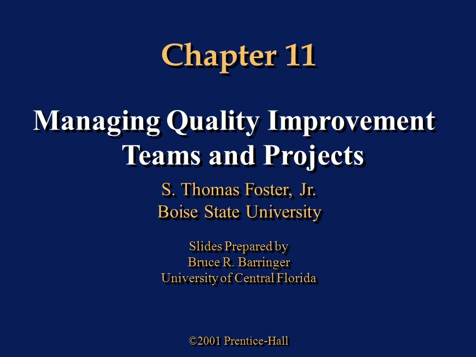managing quality improvement The role of continual improvement is one of the most important principles in any quality management strategy, and enables a core goal for all improvement.