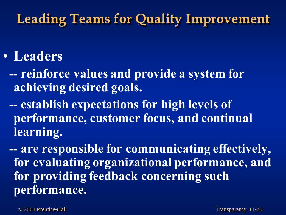 managing quality improvement Total quality management (tqm) is a systematic approach to quality  improvement that marries product and service specifications to customer  performance.