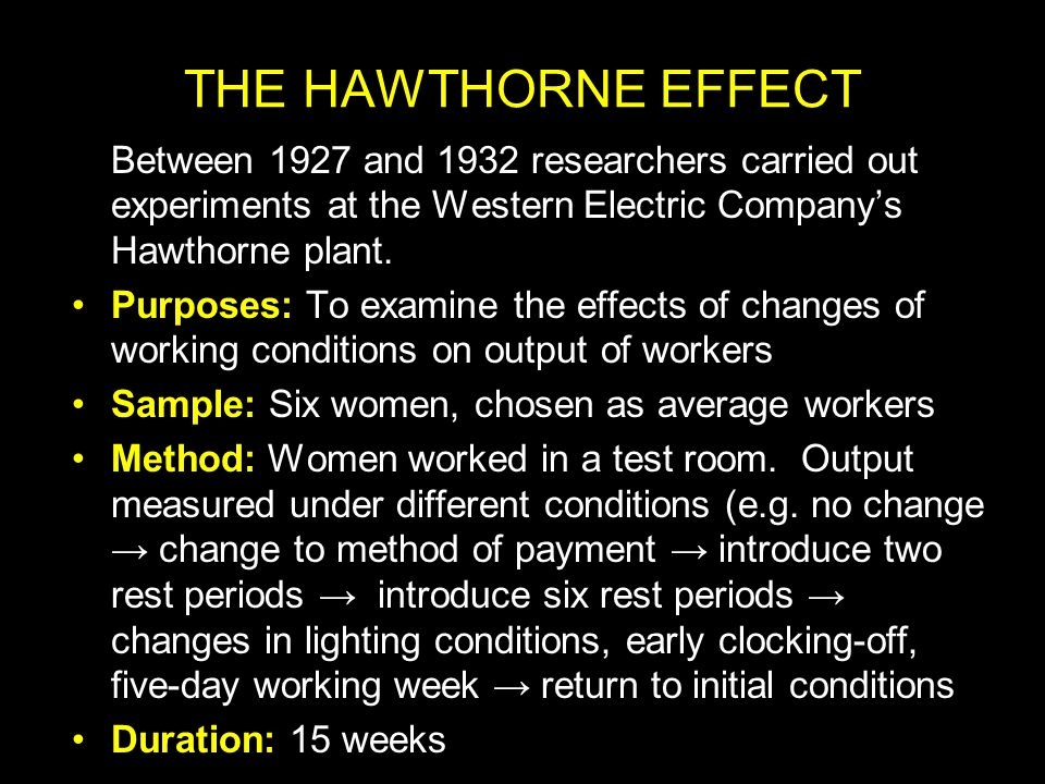 present day implication of the hawthorne Free essay: assignment the implication of hawthorne study in 21st century  ashab  thus, as a worker approached the accepted level each day, he slowed   this paper will present the theory that there are several skills.