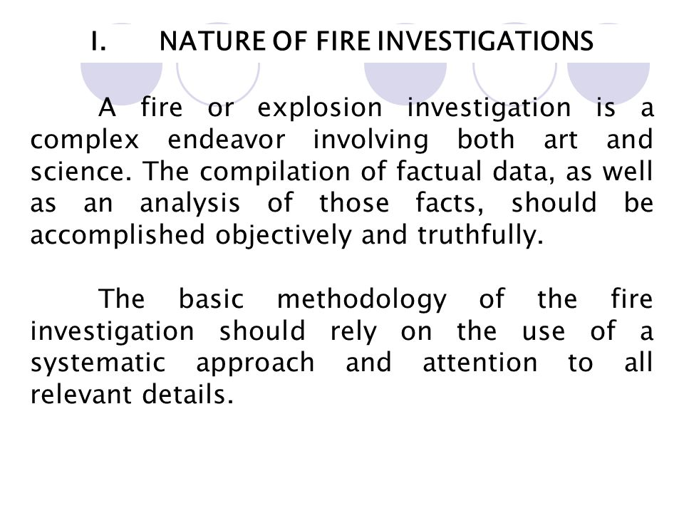 an analysis of the difficulties of fire investigation Fire investigation 101 james enos, iaai-cfi, cfei fire investigator may be required to do a failure the national center for the analysis of violent crime.