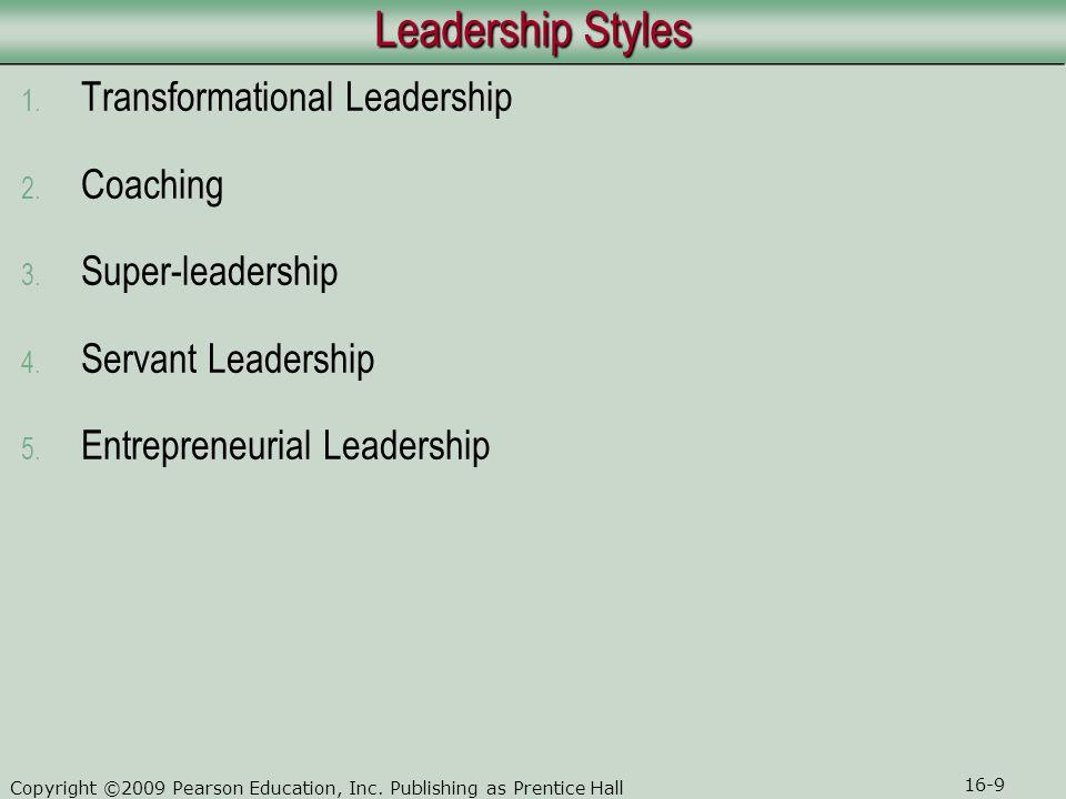 Leadership Styles Transformational Leadership Coaching