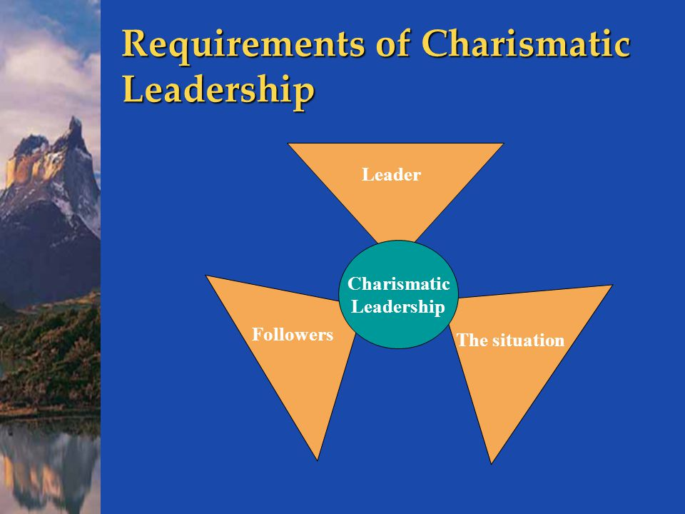 the role of the charismatic leader Charismatic leadership: the good, bad, and best practices  is fulfilling the leadership role charismatic leadership theory is similar to  charismatic leader .