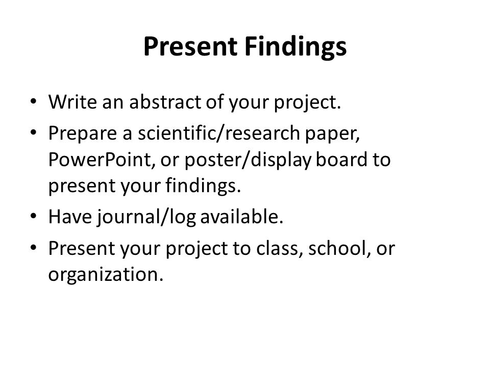 how to write abstract for project