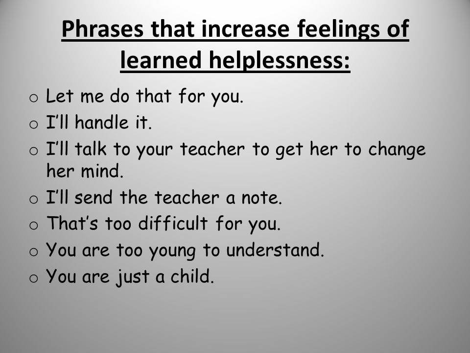 feelings of helplessness Feelings of helplessness can be fueled by trauma, grief, stress, mental health  conditions, isolation, and numerous other factors a person who.