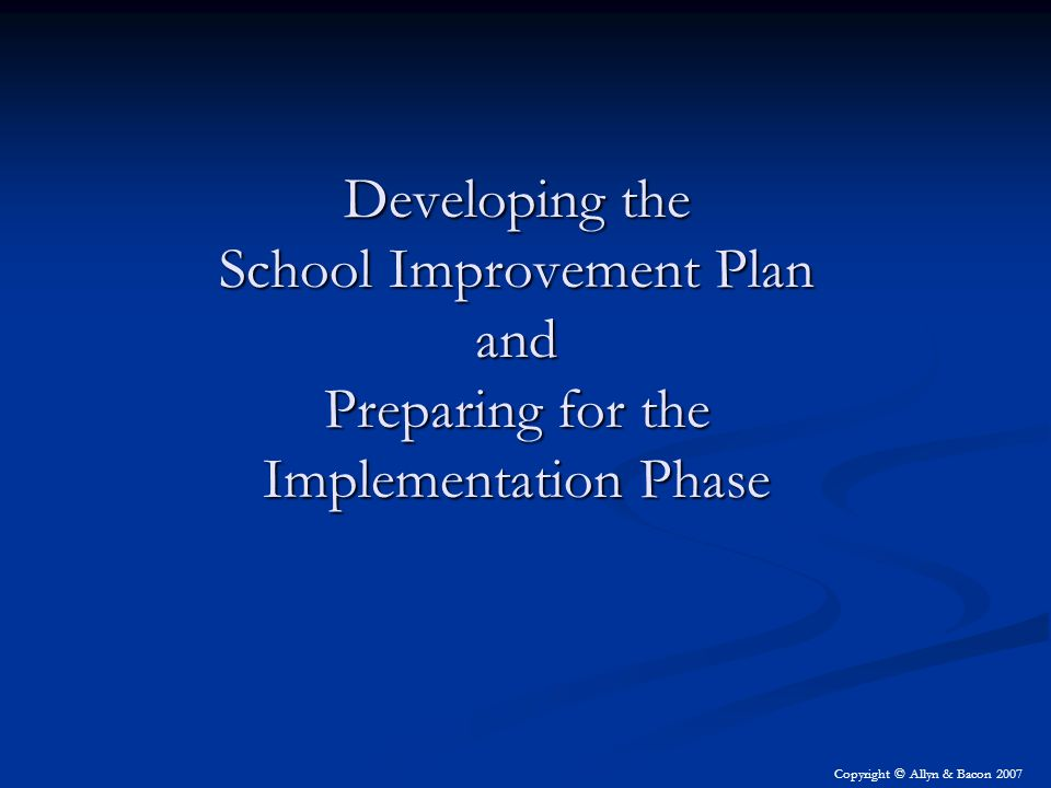 Implementing a Quality Improvement Plan