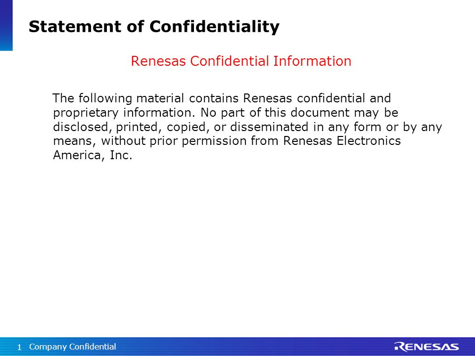 Statement Of Confidentiality - Ppt Video Online Download