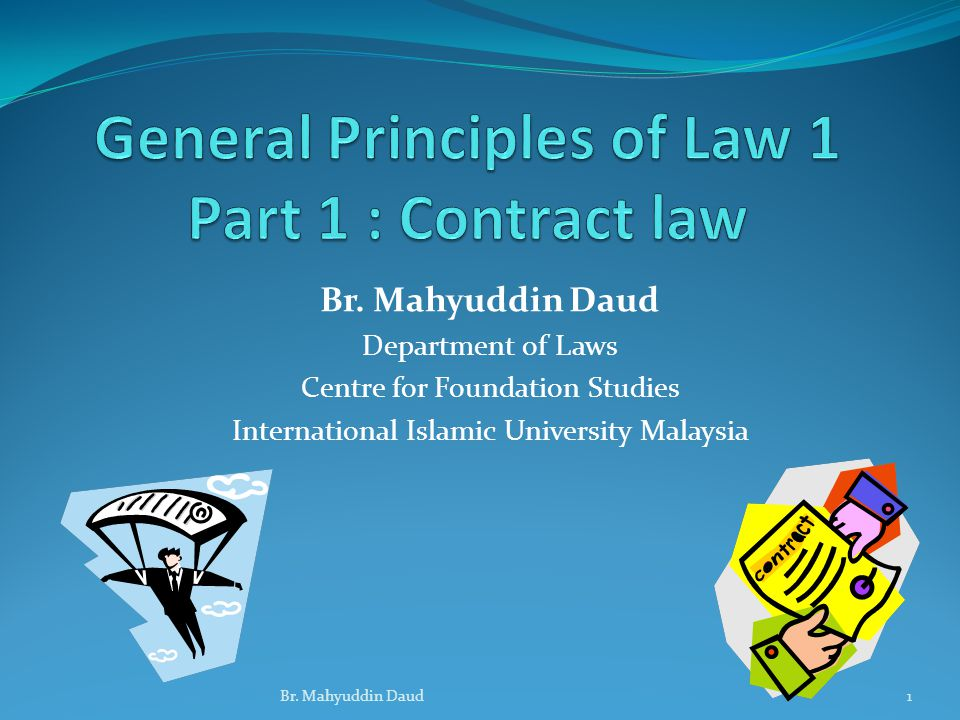 General Principles Of Law 1 Part 1 Contract Law Ppt Video Online