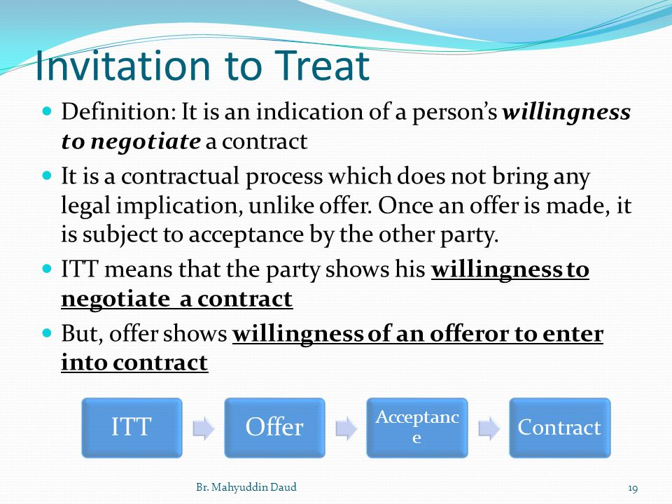 General principles of law 1 part 1 contract law ppt video 19 invitation to treat itt offer stopboris Choice Image