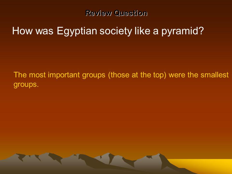 How was Egyptian society like a pyramid