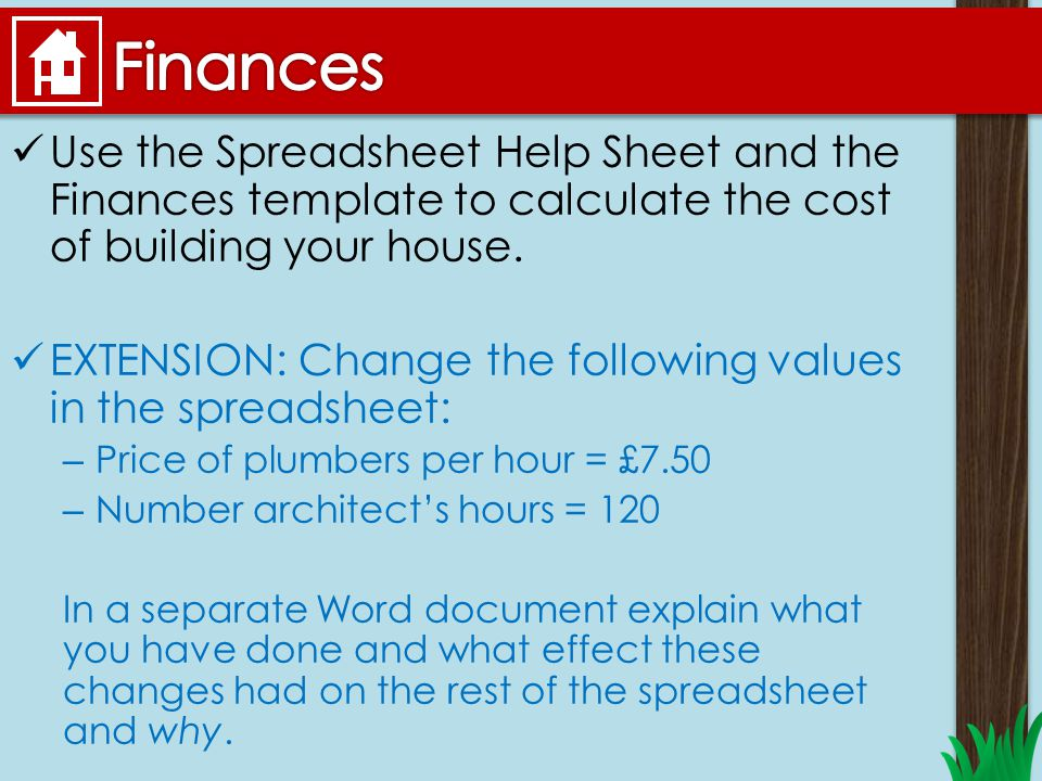 You now work for grand designs your job ppt video for Calculate the cost of building a house