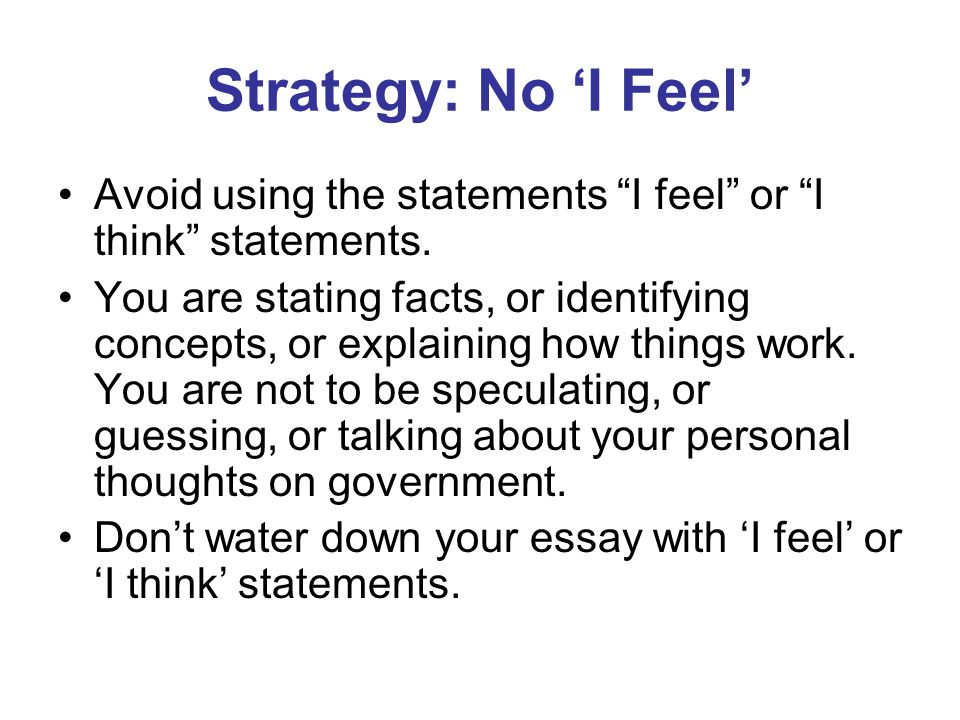 """avoiding the use of i in essays The #1 writing no-no is to never use 1st or 2nd person why in academic writing, it's important to avoid personal bias using """"i"""" or """"we"""" makes the essay about you and your experiences, instead of research and concrete details."""