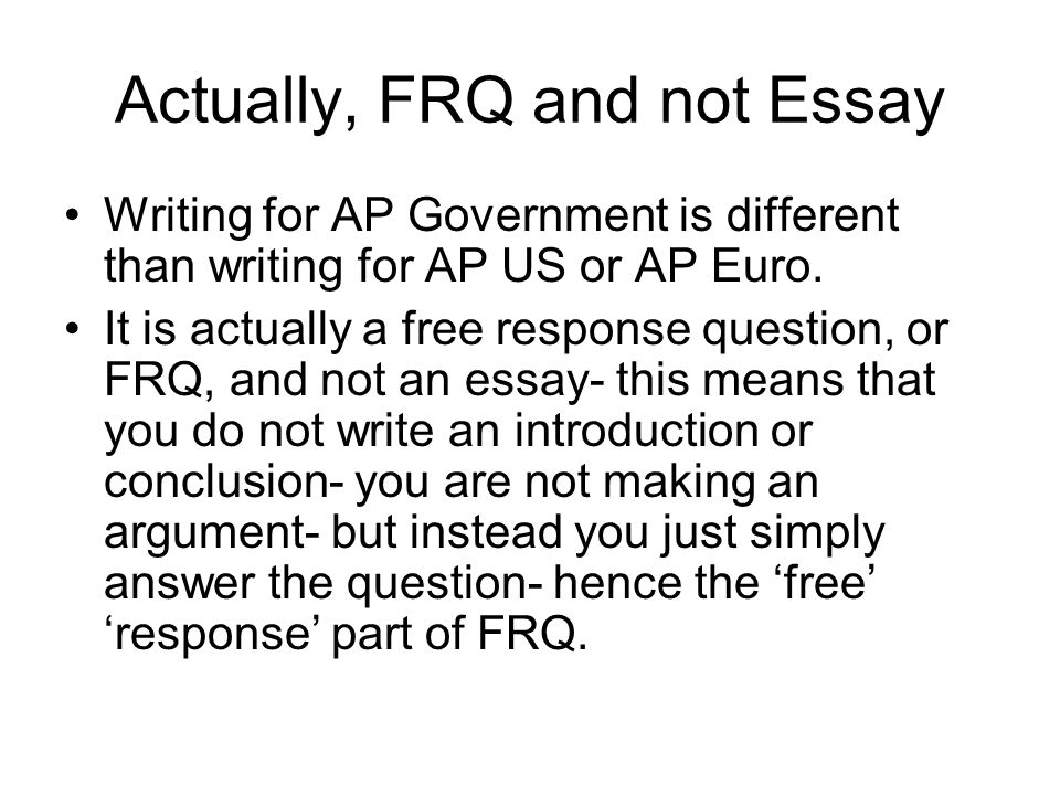 ap euro frq 102014 essay This question is designed to test your ability to work with and understand  historical documents write an essay that: provides an appropriate, explicitly  stated.