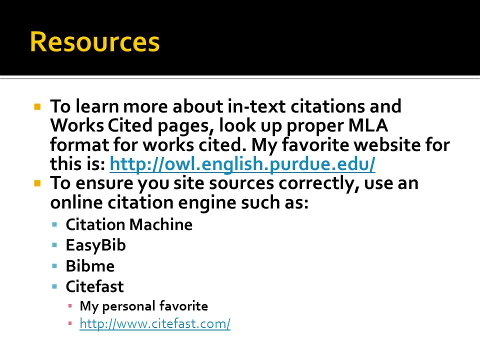 citation machine site http owl purdue edu